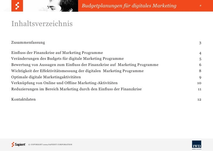 Budgetplanungen für digitales Marketing Slide 2