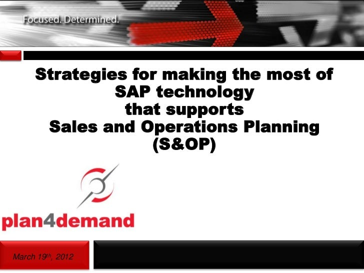 Page1        Strategies for making the most of                 SAP technology                  that supports         Sales...