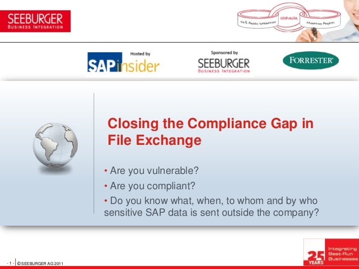Closing the Compliance Gap in                            File Exchange                            • Are you vulnerable?   ...
