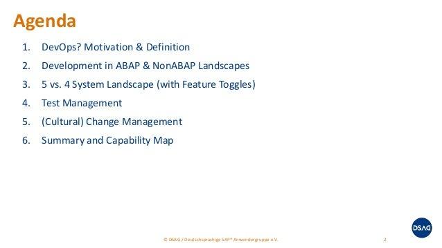 SAP Inside Track Berlin 2018 - DevOps in ABAP Landscapes Slide 2