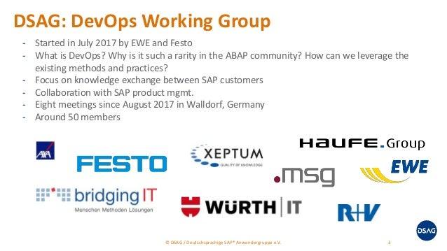 SAP Inside Track Berlin 2018 - DevOps in ABAP Landscapes Slide 3