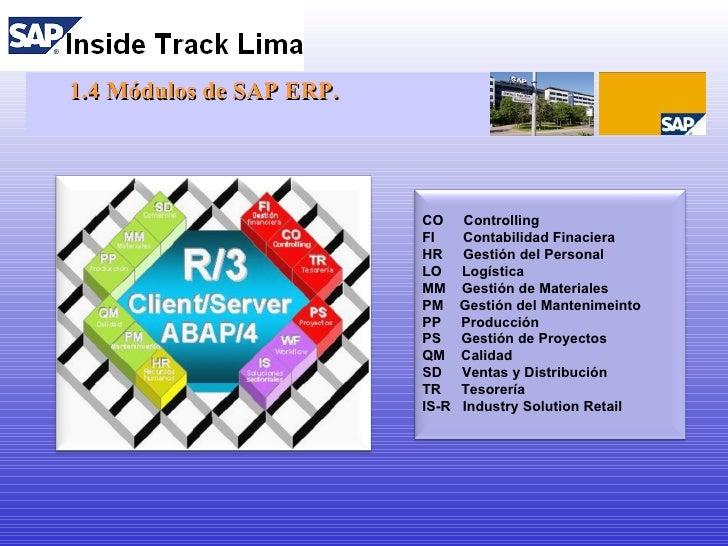 Sesión 01 Sap Ecc6 Como Plataforma De Desarrollo Proyecto