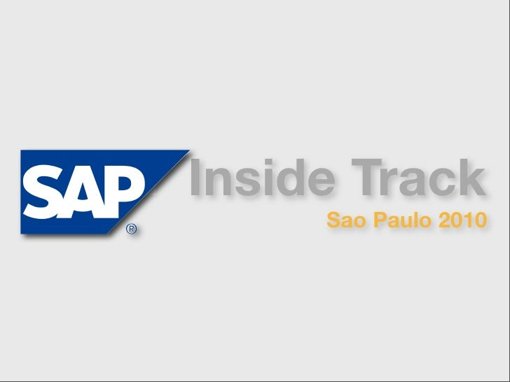 Inside Track      Sao Paulo 2010