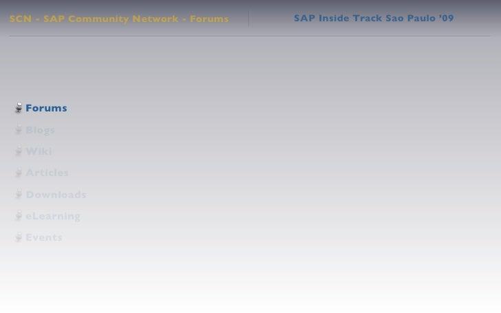 SAP Inside Track Sao Paulo '09 Keynote