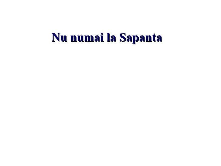 N u numai la Sapanta