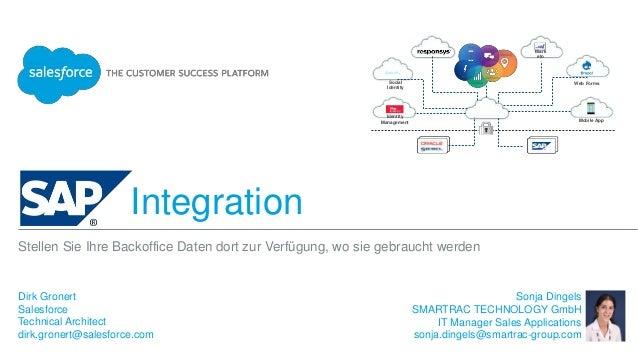 Integration Dirk Gronert Salesforce Technical Architect dirk.gronert@salesforce.com Stellen Sie Ihre Backoffice Daten dort...