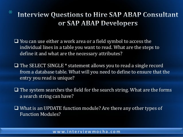 SAP Interview Questions for Experienced to Hire SAP Specialists_Part 1