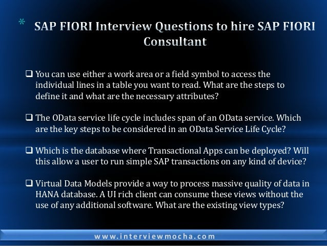 SAP Interview Questions for Experienced to Assess & Hire SAP