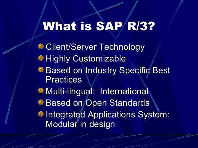 Sap introduction for Sap r 3 architecture