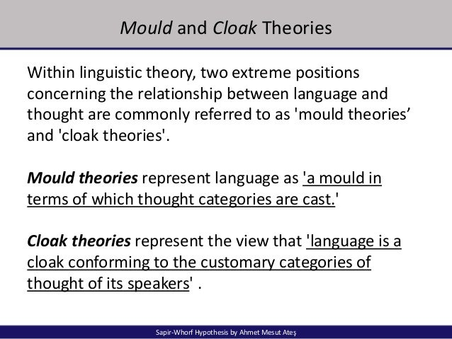 Linguistic movements and theories