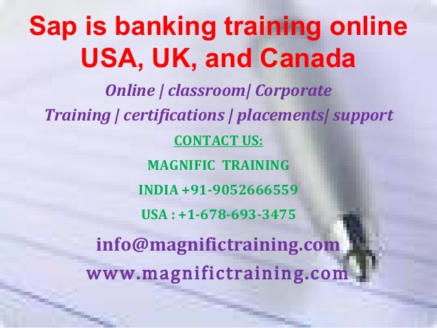 Sap Is Banking Training Online Usa Uk And Canada