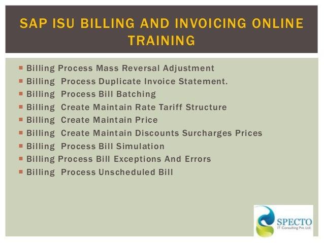 Sap isu billing and invoicing online training in pune