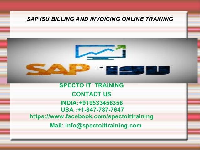 Sap isu billing and invoicing online training in usa,uk