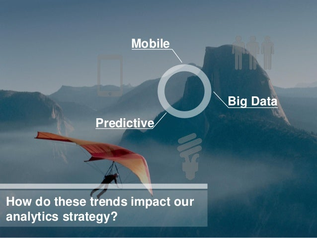 Mobile                                 Big Data              PredictiveHow do these trends impact ouranalytics strategy?
