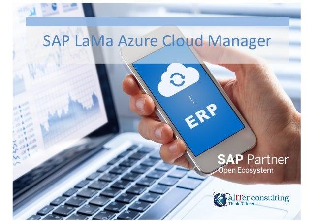 SAP  LaMa  Azure  Cloud  Manager