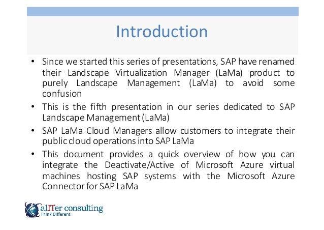 SAP LaMa Cloud Manager Azure Slide 2