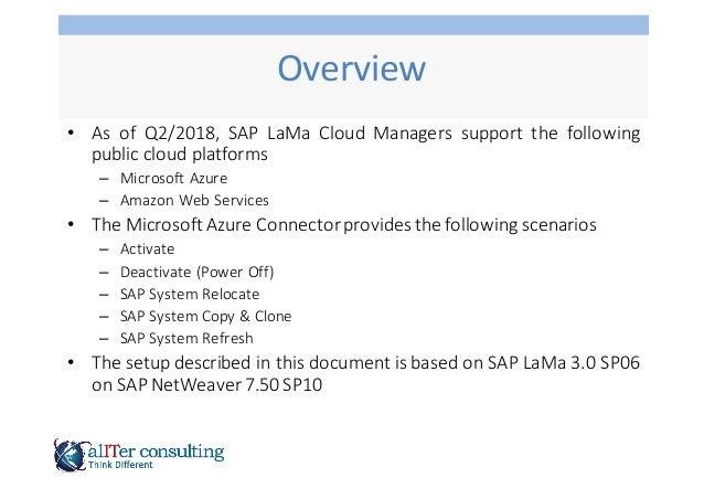 SAP LaMa Cloud Manager Azure Slide 3