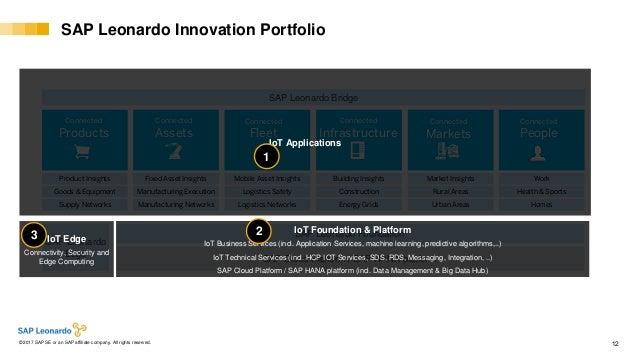 Internal© 2017 SAP SE or an SAP affiliate company. All rights reserved. ǀ 12 SAP Leonardo Innovation Portfolio SAP Leonard...