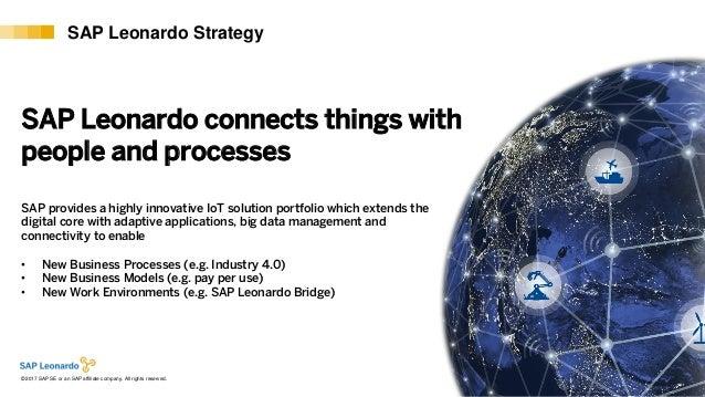 Internal© 2017 SAP SE or an SAP affiliate company. All rights reserved. ǀ 9 SAP Leonardo Strategy SAP Leonardo connects th...