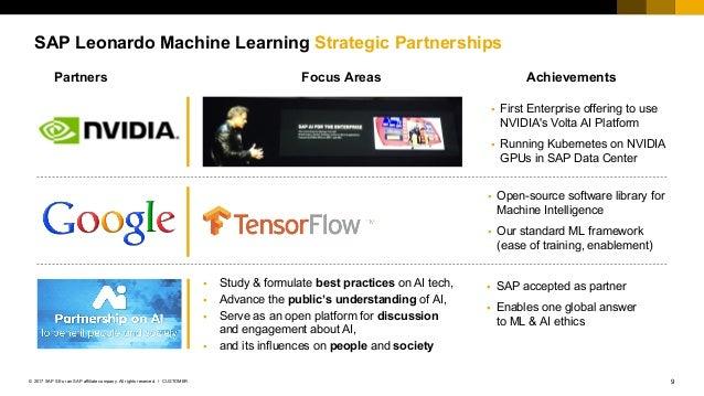 9CUSTOMER© 2017 SAP SE or an SAP affiliate company. All rights reserved. ǀ SAP Leonardo Machine Learning Strategic Partner...