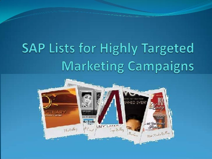 The Guided Missile!     Targeted marketing campaigns are like guided missiles. They       hit the target without fail and ...
