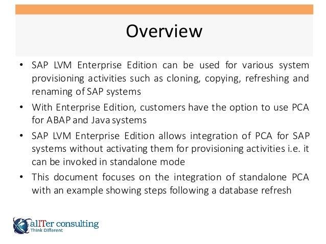 SAP LVM Post Copy Automation Integration Slide 3