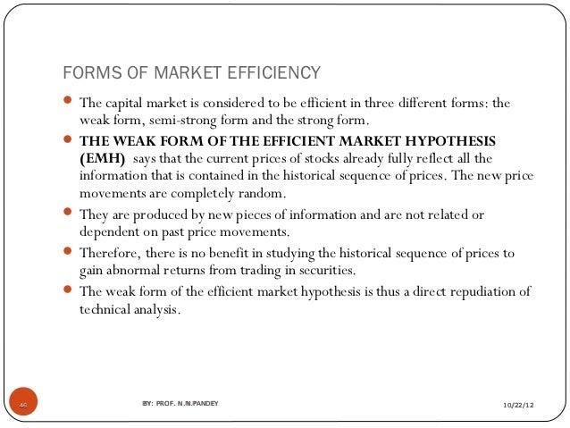 a report on the internet related stock market and the importance of efficient market hypothesis emh  Market trend stock market stocks financial economics avaliações e estatísticas 00 (0) ações do documento baixar.