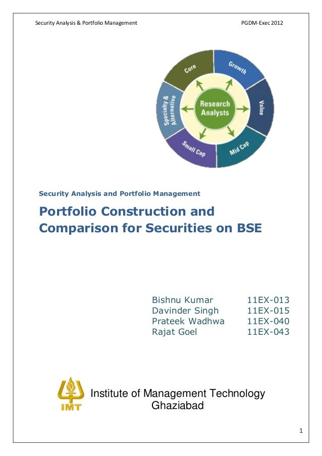 Security Analysis & Portfolio Management                    PGDM-Exec 2012 Security Analysis and Portfolio Management Port...