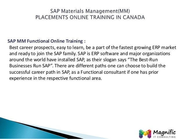 sap materials management mm placements online training in