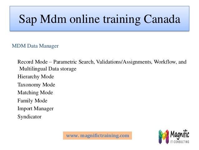 Sap Mdm Online Training In Canada