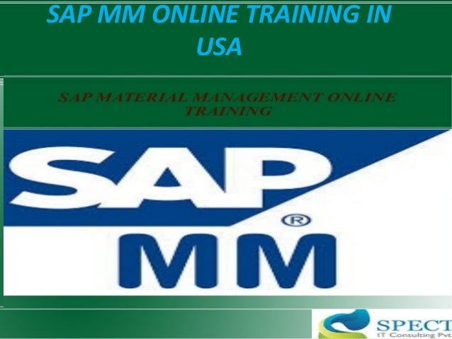 SAP MM ONLINE TRAINING IN USA