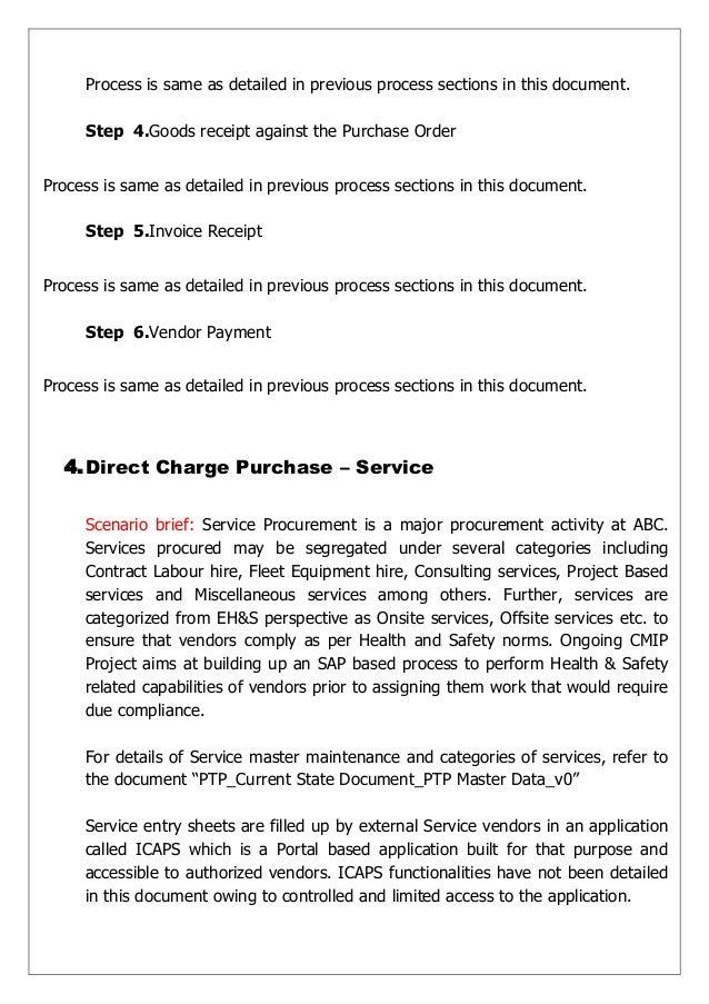 process - Business Process Documentation Sample