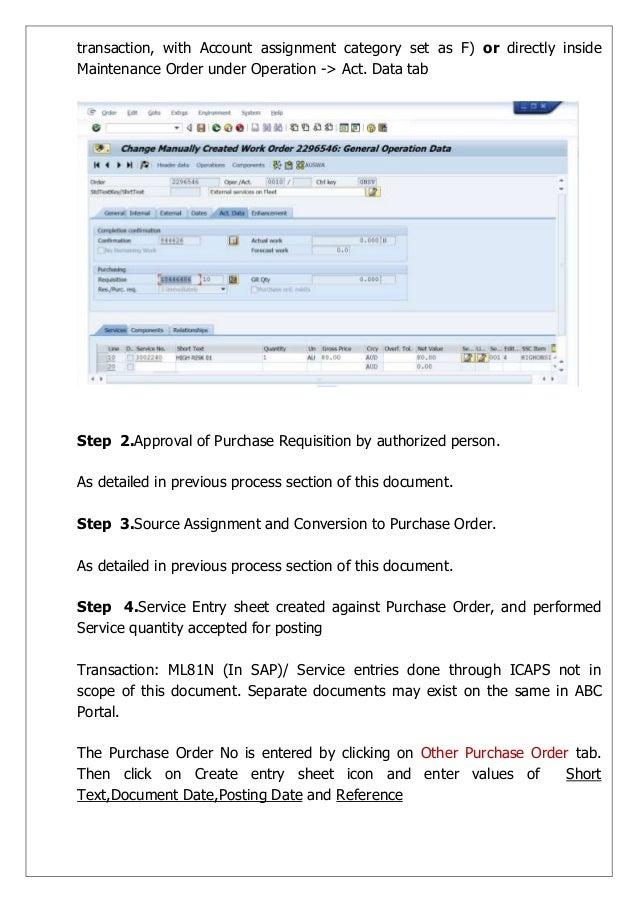 sap bill paper types through po