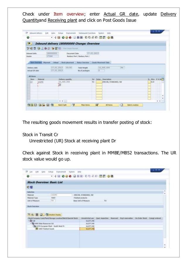 SAP MM Standard Business Processes
