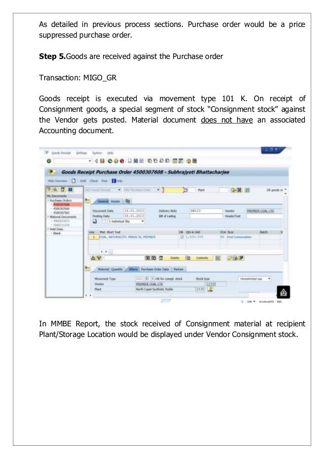SAP MM Standard Business Processes – Standard Receipt