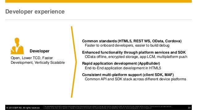 Microsoft Technical Webinar: SAP Mobile Platform for Windows
