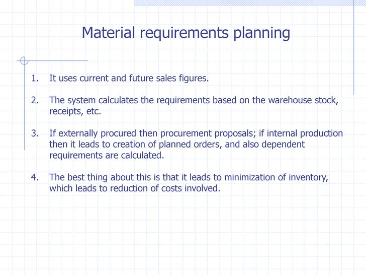 mrp materials requirements planning Materials requirements planning (mrp) by psychothewall in types  articles & news stories.