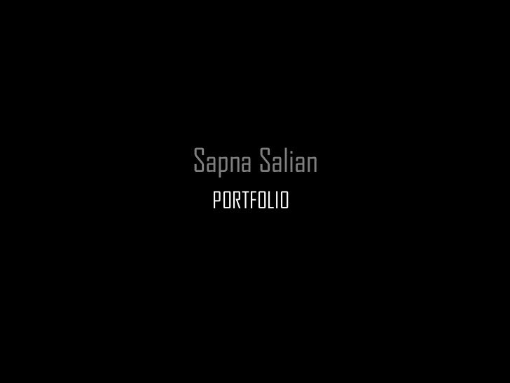 Sapna Salian PORTFOLIO