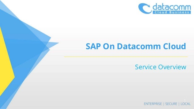 SAP On Datacomm Cloud Service Overview 1