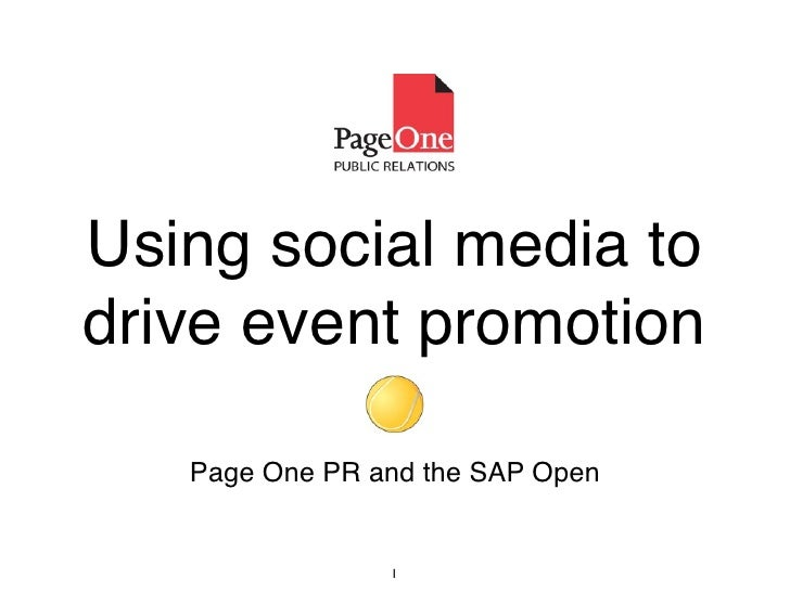 Using Social Media to Drive Event Promotion