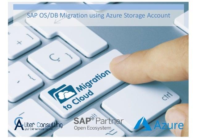 SAP OS/DB Migration using Azure Storage Account