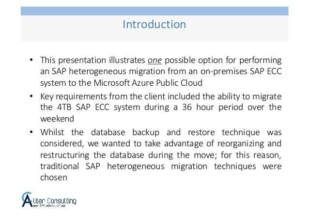 SAP OS/DB Migration using Azure Storage Account Slide 2
