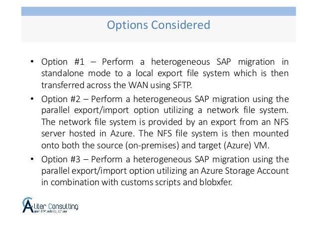 SAP OS/DB Migration using Azure Storage Account Slide 3