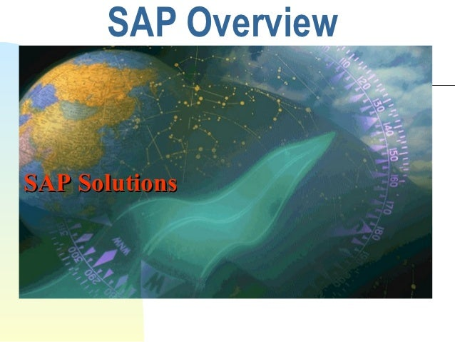 SAP OverviewSAP Solutions