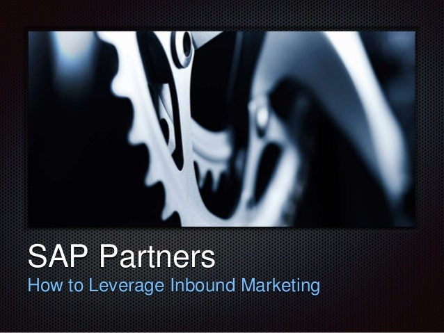 Text SAP Partners How to Leverage Inbound Marketing