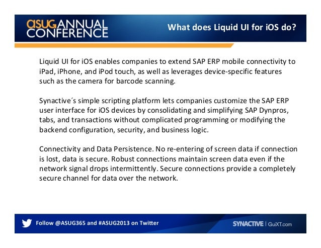 Sapphire 2013 Presentation - Streamlining SAP Transactions for Barcod…