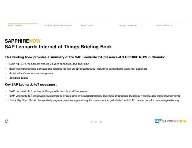 ASUG SAPPHIRENOW 2017 - SAP Leonardo Internet of Things - Briefing Book Slide 2