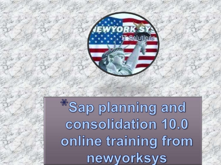 SAP PLANNING ANDCONSOLIDATION 10.0 isa corporate performancemanagement tool that cancater to all types ofplanning         ...