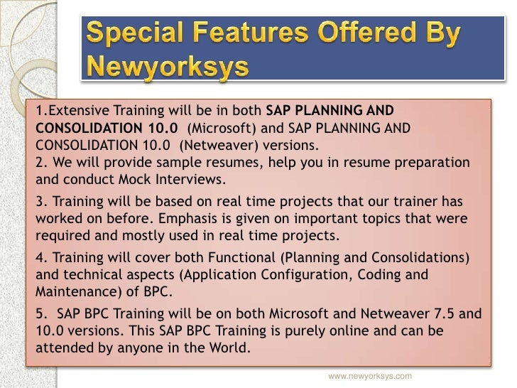 sap planning and consolidation training materials