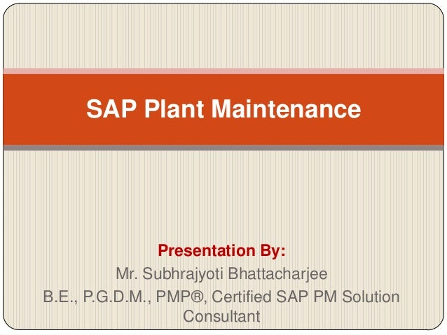 Sap Plant Maintenance